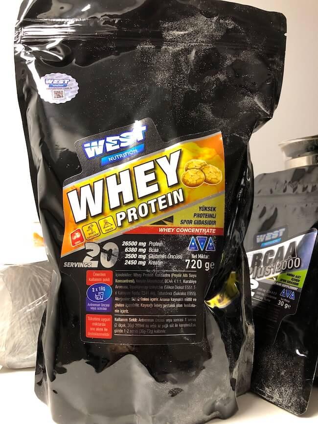 west nutrition kurabiye aromalı whey protein inceleme ve yorum
