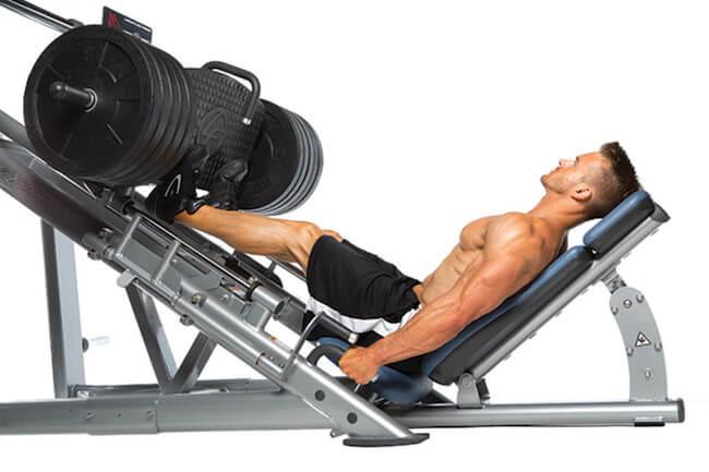 leg press vücut geliştirme hareketi