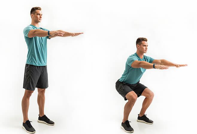 squat vücut geliştirme hareketi